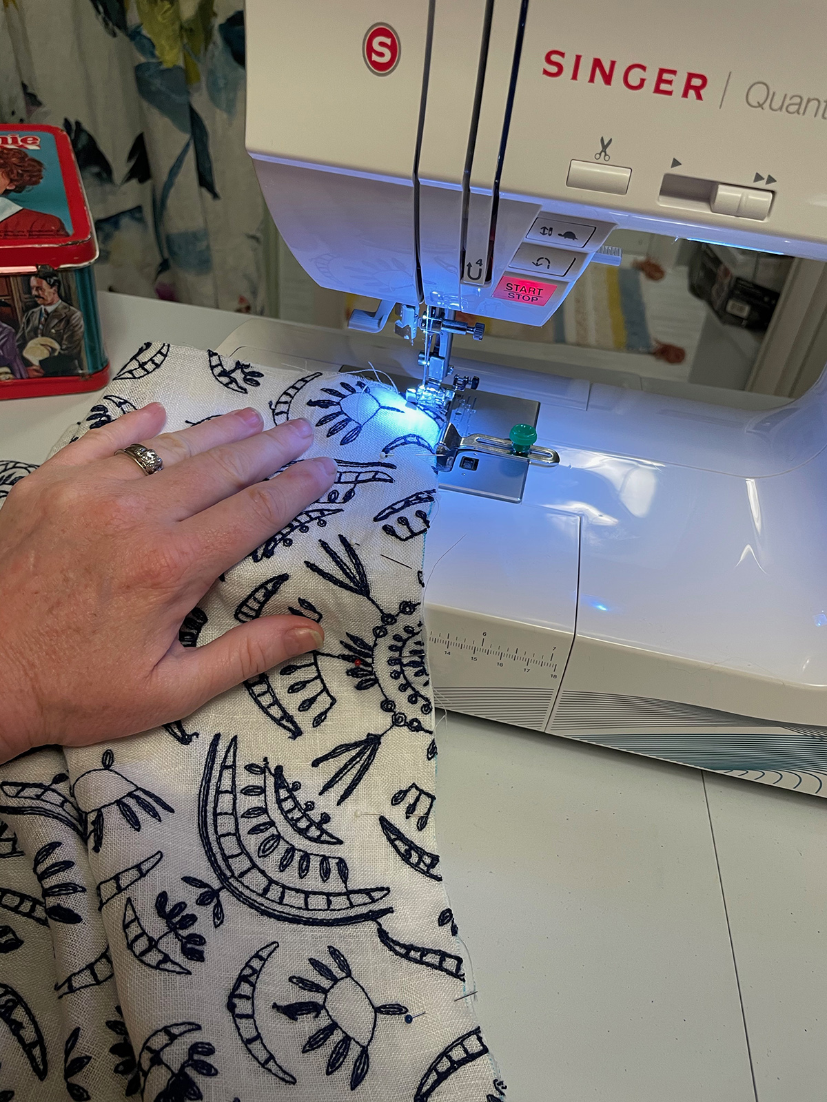 sewing with sewing machine